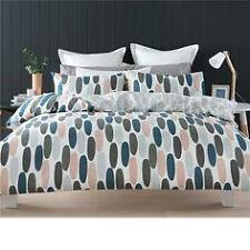 King size Pebble Peach White Grey Doona / Quilt Cover & Pillow Set: urban cool