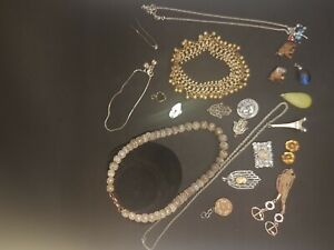 Mixed Jewellery Lot Some Ready To Wear Some Need Some TLC - Preowned