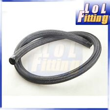 Black Nylon Cover Braided 1500 PSI 8AN AN8 Oil Fuel Gas Line Hose Foot