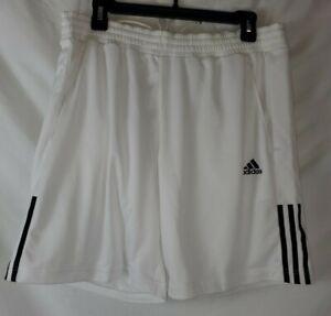 Adidas Men's Size Large White Shorts Elastic Waist