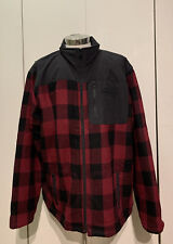 Harley Davidson Mens 2XL Wool Nylon Riding Jacket Nwot Red Plaid