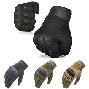 Tactical Carbon Fiber Full Finger Gloves Army Military Combat Hunting Shooting