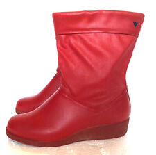 VIKING Women's UK 4 EUR 37 Rubber Boots Booties Red Rain Shoes Wellies
