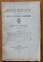 1918 - Revue Africaine - Société Historique Algérienne - N°296-297