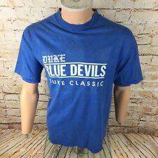Duke Blue Devils Basketball T Shirt Adidas Sz Large / L Mens