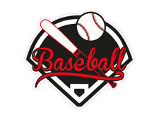 1 X Autocollant Baseball Logo Ball America Emblème Sports Sport Sticker Tuning Fun
