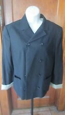D&G Dolce & Gabbana Black 3-Button Blazer Jacket Size 32/46 Made in Italy EUC