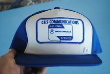 Vintage Motorola 2 Way Radio Patch Snapback Foam Trucker Hat C&S Communications