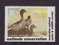 Australia Wetlands conservation $10.00 cinderella stamp 1993-4
