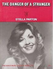 Le danger d'un inconnu-STELLA PARTON - 1977 Sheet Music