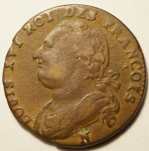 REVOLUTION : 12 DENIERS DE LOUIS XVI 1792N MONTPELLIER