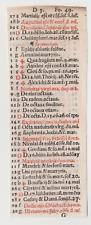 "Incunabula - Angelus De Clavasio - ""Summa angelica.."" - Venice 1495 - One Leaf"