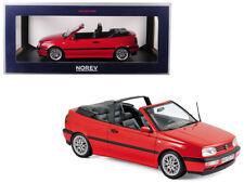 1/18 Norev 1995 Volkswagen Golf Cabriolet Diecast Model Car Red 188433