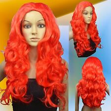 Lethal Beauty Poison Ivy Red Curly Costume Halloween Cosplay Wigs 00_2