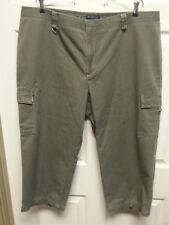 DOCKERS Women Green  Capri Size 22 Side Pockets Plus
