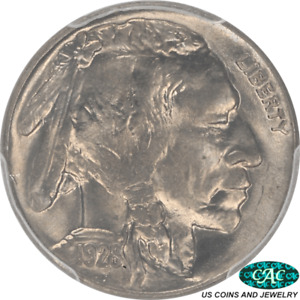 1928 Buffalo Nickel PCGS and CAC MS65+ Frosty Steel Grey