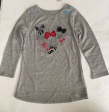 Girls Children's Place Shirt NWT Size XS 4 Long Sleeves Gray, Black & Red