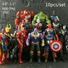 10Pcs Avengers 3 Action Figure Marvel Captain America Spider Man Iron Man Doll