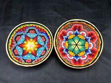 Huichol Beaded Bowl Folk Art Carving