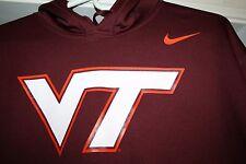VIRGINIA TECH VT HOKIES Nike Therma Fit Sweatshirt NEW NWT Maroon Football XL