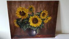 Tableau bouquet de tournesol