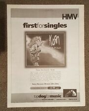 Korn Freak on a leash  1999 press advert Full page 30 x 40 cm mini poster