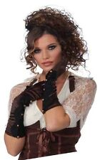 Steampunk Long Brown Gloves with Buttons - Victorian Industrial & Science fnt