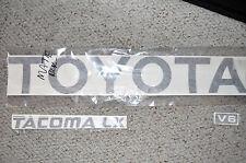 TOYOTA TACOMA TRUCK TAILGATE LOGOS DECAL 95-99 BLACK pickup  V6