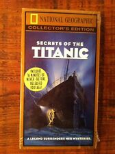 National Geographic Video Vhs Collector's Edition Secrets Of The Titanic