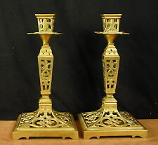 Nice Pair Of Candle Holders Cut Out Style Louis XIV Xixéme Pair Of Candlesticks