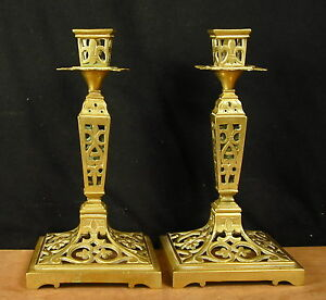 Nice Pair Of Candle Holders Cut Out Style Louis XIV Xixéme Candlesticks