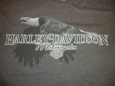 Harley Davidson Motorcycles Carroll Iowa Eagle 60/40 biker gray T Shirt M