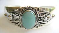 Amazonite Sterling Silver Cuff Bracelet