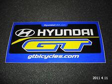 1 AUTHENTIC GT BICYCLES HYUNDAI SPONSER STICKER #13 / DECAL / AUFKLEBER