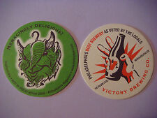 Beer Coaster ~*~ VICTORY Brewing Hop Devil ~ Menacingly Delicious ~ PENNSYLVANIA