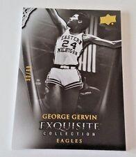 2011-12 UPPER DECK EXQUISITE GEORGE GERVIN BASE #/99 EASTERN MICHIGAN EAGLES