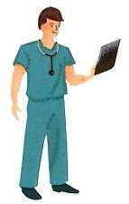 Sizzix Bigz Doctor/Nurse #1 die #A10743 Retail $19.99 Retired, Cuts Fabric!