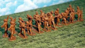 Armies in Plastic WWI French Khaki Uniforms w/Adrian Helmets 1/32 54mm