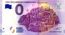 34 BEZIERS Les 9 écluses de Fonséranes, Canal du Midi, 2018, Billet 0 € Souvenir