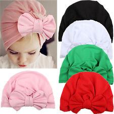 Newborn Toddler Baby Turban Knot Head Wrap Boys Girls India Beanie Hats Caps