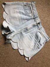 Insta Famous Scalloped H&M Denim Shorts Eur 38 Us 8 Suit A Uk 10