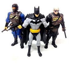"DC Comics Universe Batman, Jim Gordon & Gotham SWAT trooper 3.75"" figures set"