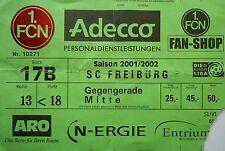 TICKET 2001/02 1. FC Nürnberg - SC Freiburg