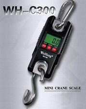 Crane Scale Industrial Heavy Duty 300kg 0.1kg LCD Hook Hanging Portable Digital