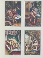 Agostino Carracci Erotik Faun Penis Akt Achilles Mythologie Satyr Vagina Antike