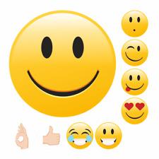 Sticker Emoji Good Yellow sticker Smiley Gefühle Sheets Review Mood