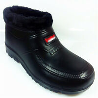 Mens Waterproof Snow Boots Fleece Lined Warm Winter Thick Cotton Shoes Casual