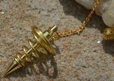 Gold plated metal spiral healing dowsing pendulum