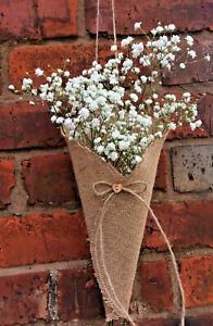 Empty Church Pew Ends / Cones,Hessian Barn Wedding Decoration Flower Sack