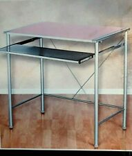 Z Line Designs Solo Computer Desk Reversible Desktop Z Line Blue and Pink